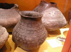 These stamped decoration pots are the earliest form of anglo saxon pots in England