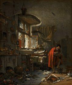 The Alchemist, Thomas Wijck, Mauritshuis