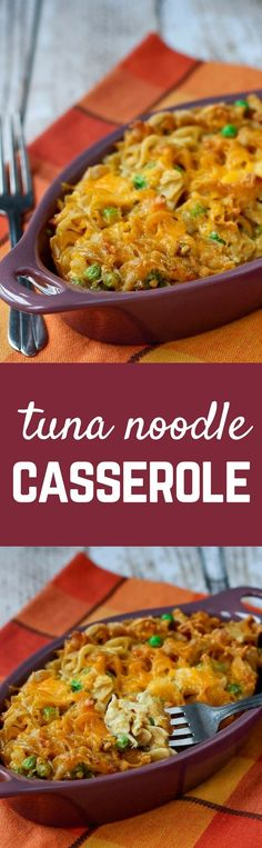 Tuna Noodle Casserole Recipe - with an unexpected crunch. This is my husband's…
