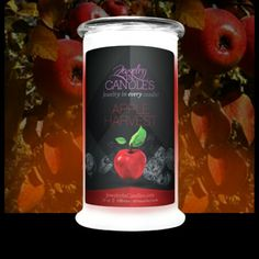 Apple Harvest Candle   Apple Harvest evokes the scentof crisp, inviting fall days!Crisp, juicy, and warm, with just a hint of apple pie spice, it brings to mind fresh-pressed cider or hot apple pie.    This apple fragrance is infused with natural cedarwood, cinnamon, nutmeg, clove, orange, and cedarwood essential oils.  https://www.jewelryincandles.com/store/christinatarpley/p/50:c:96/fresh-fruits/apple-harvest-candle/