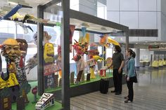 """""""Art at the Airport"""", the Philadelphia International Airport, reveals the talents of Philadelphia's artists and the variety of regional arts institutions. (Credit: Philadelphia International Airport)"""