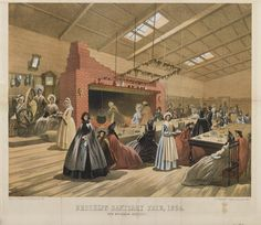 Brooklyn Sanitary Fair Lithograph, ca. 1864.