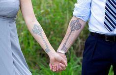 Diseños de tatuajes para parejas - Tatuaje Club                                                                                                                                                                                 Más
