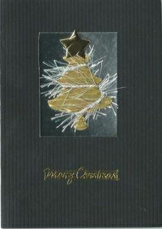black christmas card sale