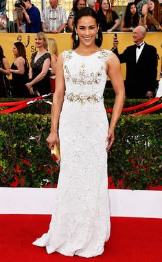 Paula Patton wows in white in this Ayesha gown!