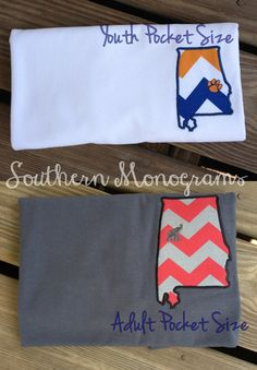 CUTE state pocket tees--can be done for any team/state. LOVE $16