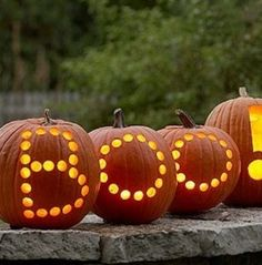 Halloween Pumpkins - more great Halloween Decor here!
