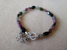 Tourmaline Bracelet by TieDyedDaisy on Etsy
