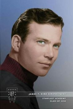 James T . Kirk Starfleet Cadet Picture.