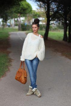 oversize sweater - free pattern