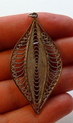 Large Sterling Silver Pendant by onetime on Etsy, $6.25