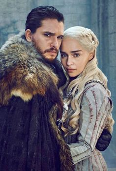 BoomDaFunk - anatlittle: Jon & Daenerys x Kit & Emilia Dessin Game Of Thrones, Arte Game Of Thrones, Game Of Thrones Poster, Game Of Thrones Funny, Jon Snow And Daenerys, Game Of Throne Daenerys, Kit And Emilia, Daenerys Targaryen Art, Game Of Thones