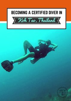 becoming a certified diver in Koh tao pinterest