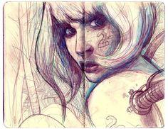Josan Gonzalez #sketchbook #marcador #caneta