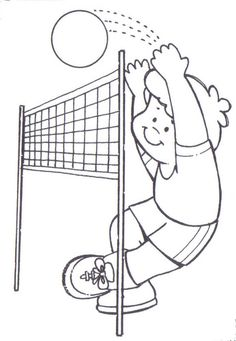 find this pin and more on thema olympische spelen online volleyball preschool coloring page