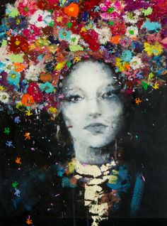 LADY DIANE by Angelo Accardi #flowers #popart