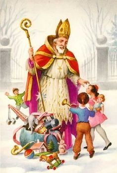 Image result for images of St nicholas the gift giver in tudor era