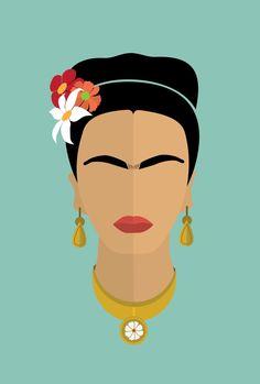 frida kahlo paintings Frida Kahlo Icon Print, Original Design - Frida's world - Art And Illustration, Character Illustration, Frida Kahlo Portraits, Frida Kahlo Prints, Frida Kahlo Cartoon, Frida Kahlo Artwork, Kahlo Paintings, Buch Design, Design Design