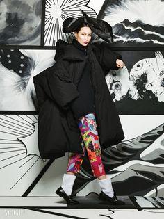 """Fashionable Manga"" Vogue Korea 2014 Repinned by www.lecastingparisien.com Korean Traditional, Traditional Fashion, Korea Fashion, Japan Fashion, Vogue Editorial, Editorial Fashion, Gold Fashion, Fashion Art, Vogue Photography"