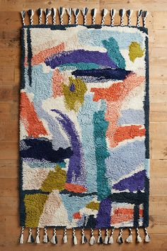 Tapis à larges coups de pinceau - anthropologie.com