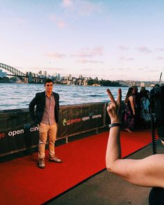 """No photographer apparently I will not do the peace sign on the red carpet. """"Looking for Grace"""" at @stgeorgeopenair cinema opening last night. #mrserious  by alexjcubis http://ift.tt/1NRMbNv"""