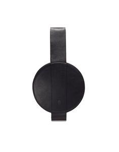 Slava Varsovia / Bag.no 44 / www.slavavarsovia.com #minimalism #black #bags #minimal #design #round #circle