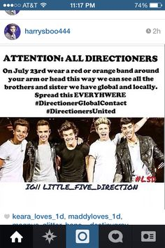 DIRECTIONERS LETS DO THIS!! I would like to see my brothers and sisters!! PLZ!
