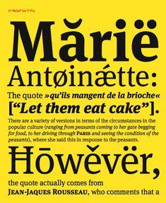 Meta typeface, FF Meta Serif, de Erik Spiekermann (1947-), avec Christian Schwartz et Kris Sowersby (2007)