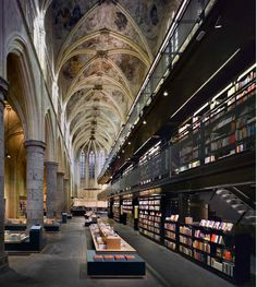 bookstore in ex cathedral, Maastricht, The Netherlands