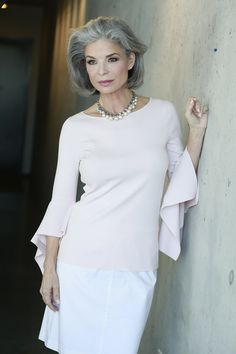 Kathi odom represented by bella agency beauty board in 2019 silver hair, si Beautiful Women Over 50, Beautiful Old Woman, Medium Hair Cuts, Haircut Medium, Silver Grey Hair, Long Gray Hair, Ageless Beauty, Going Gray, Sexy Older Women