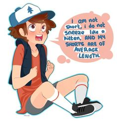 Aww dipper is so cute when he's mad :)