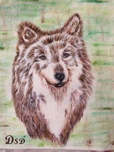 Wolf auf Tasche von DSD Husky, Wolf, Handmade, Animals, Hand Made, Animales, Animaux, Wolves, Animal