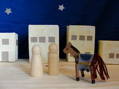 cute way to make buildings for Bethlehem