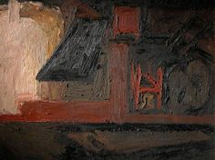 Building Site, Earls Court Road: Winter (replica) by Frank Helmuth Auerbach, 1955, Oil on board, 90.5 x 120 cm,  Royal College of Art