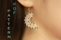 Tatting lace necklace / earrings pdf pattern The by TheKimAndI