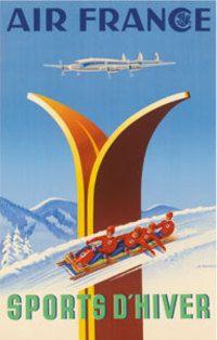 Affiche Musée Air France 50 cm x 70 cm 48 SPORTS D'HIVER