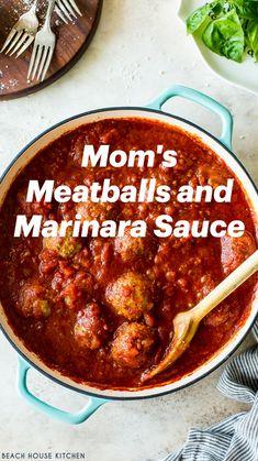 Meatball Recipes, Meat Recipes, Pasta Recipes, Yummy Recipes, Dinner Recipes, Italian Pasta, Italian Cooking, Italian Recipes, Spaghetti And Meatballs