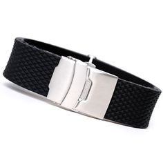 Black Waterproof Silicone Rubber Watch Band Strap Straight End Bracelet Stainless Steel Double Click Folding Clasp 20-24mm #>=#>=#>=#>=#> Click on the pin to check out discount price, color, size, shipping, etc. Save and like it!