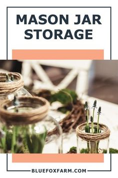 As a crafter, I know that it's impossible to keep track of all the jars, cans, mixed plastic bags full of all your precious little odd bits, especially when you can't see into the container. My craft storage is a bit hit and miss. Learn how to keep everything organized using mason jars. Now there's no excuse for not putting things away, and I can see at a glance what I've got, and what to replace when I run out. #organizingcrafts #masonjaruses #craftstorage Mason Jar Storage, Mason Jars, Garden Junk, Garden Art, Craft Organization, Craft Storage, Fox Farm, Rustic Crafts, Plastic Bags