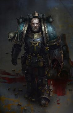 Sons of Horus. Serghar Targost, Captain of the Company and the Lodge Master of the Sons of Horus' warrior lodge, the heart of the Legion's growing allegiance to the Chaos Gods. Warhammer 40k Art, Warhammer Fantasy, Sons Of Horus, Thousand Sons, The Horus Heresy, Game Workshop, Sci Fi Characters, Space Marine, Fantasy Artwork