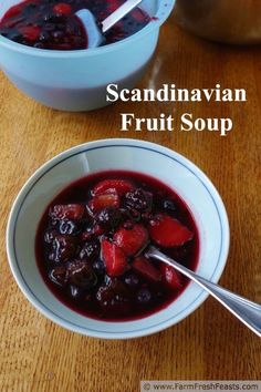 Farm Fresh Feasts: Scandinavian Fruit Soup for #ChristmasWeek. This lightly sweet dessert recipe is a nice accompaniment to a cookie plate.