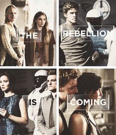 Catching Fire I LOVE the last picture where Peeta is looking over Katniss's shoulder