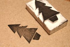 DIY Christmas rubber stamps