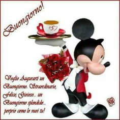 Buongiorno Good Day, Good Morning, Happy Thursday, Minnie Mouse, Messages, Disney Characters, Blog, Larger, Night