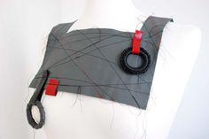 """Anna Cardillo - geometrie da indossare  pectoral """"concetto spaziale 1"""" - leather -"""