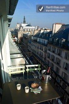 Breakfast on the terrace at Sergent (sleeps 4-6), near the Place de la Republique. #paris