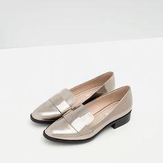 low cost b1301 85e87 MOCASÍN LAMINADO - Zapatos y bolsos - Mujer - ÚLTIMA SEMANA   ZARA España  Bolsos De