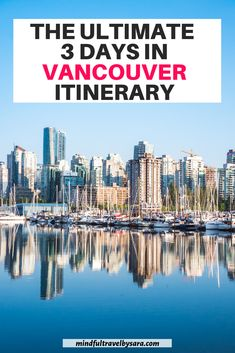 Spending 3 days in Vancouver? This 3 day Vancouver Itinerary features the highlights of Vancouver and What to Do in Vancouver in 3 Days. 3 days in Vancouver | Vancouver in 3 days | three days Vancouver | Vancouver 3 day itinerary | Vancouver Travel | Top attractions in Vancouver | Best things to do in Vancouver Canada | Vancouver itinerary | weekend in Vancouver BC | Vancouver Travel Guide | 3 day Vancouver trip #vancouvertravel #canadatravel #vancouver Visit Vancouver, Vancouver Travel, Honeymoon Places, Honeymoon Destinations, Romantic Destinations, Romantic Travel, Travel Blog, Travel Guide, Sea To Sky Highway