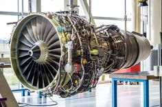 Engine's maintenance in huge industrial hall Stock Photos , Engineering Careers, Systems Engineering, Aerospace Engineering, Turbine Engine, Gas Turbine, Motor Jet, Remote Sensing And Gis, Airport Design, Jet Engine