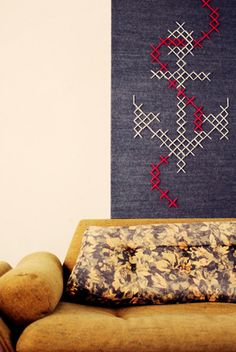 cross-stitch art - Down and Out Chic: general decor
